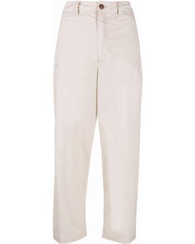 Хлопковые укороченные брюки на пуговицах узкого кроя Closed