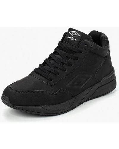 Высокие кроссовки из нубука черные Umbro