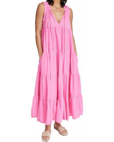 Хлопковое пляжное платье стрейч 9seed
