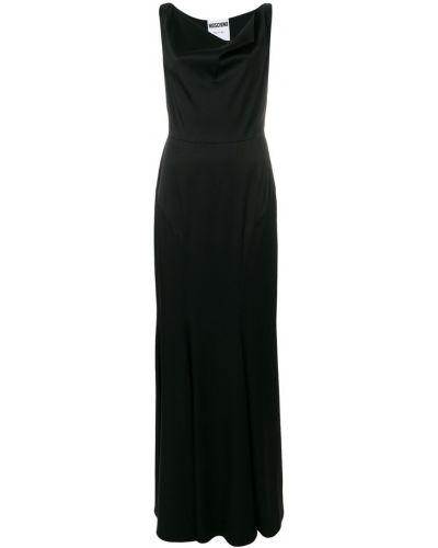 Вечернее платье длинное с рукавами Moschino