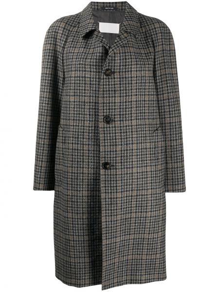 Шерстяное пальто - черное Maison Margiela