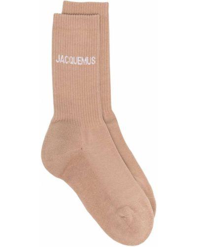 Bawełna brązowy bawełna skarpety Jacquemus