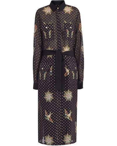 Блузка с поясом в горошек Elie Saab