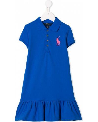 Платье с рукавами короткое расклешенное Ralph Lauren Kids