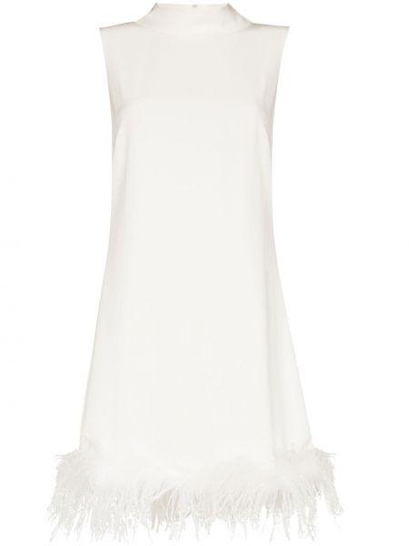 Biała sukienka z wiskozy Rixo