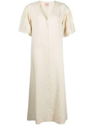 С рукавами платье мини с оборками с вырезом Nude