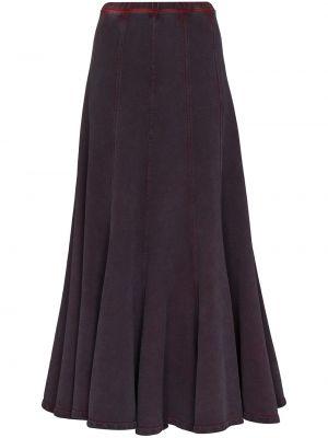 Хлопковая юбка миди - фиолетовая Y Project