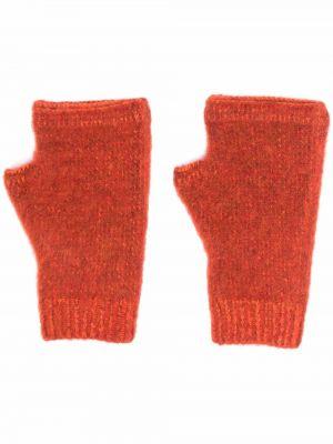 Шерстяные перчатки - оранжевые Stone Island Shadow Project