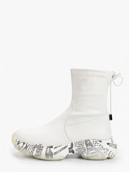 Высокие кроссовки из искусственной кожи белый Ridlstep