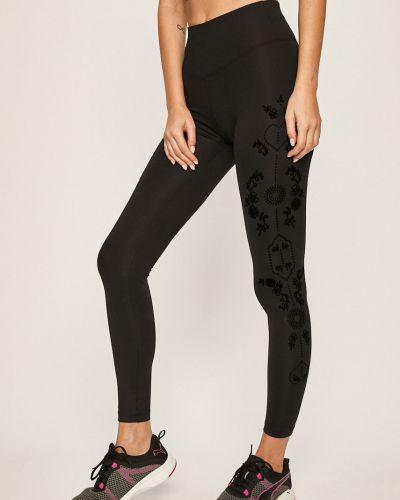 Черные брюки на резинке с поясом с открытым носком Desigual Sport