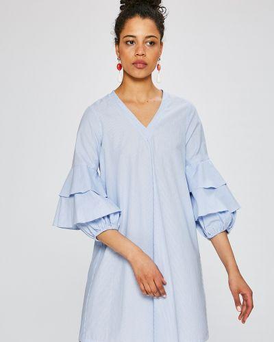 Платье мини с V-образным вырезом прямое с оборками Silvian Heach