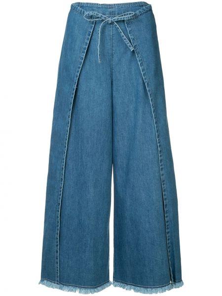 Синяя джинсовая юбка на молнии с поясом Frei Ea