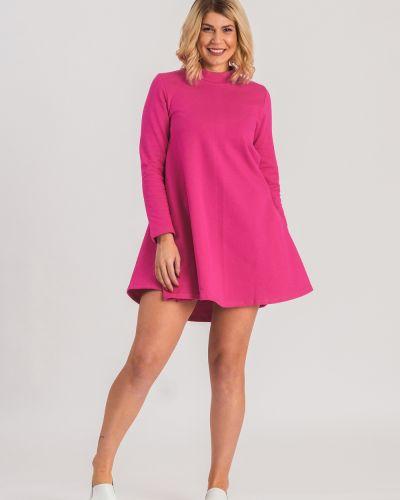 Повседневное платье розовое однотонное Lacywear