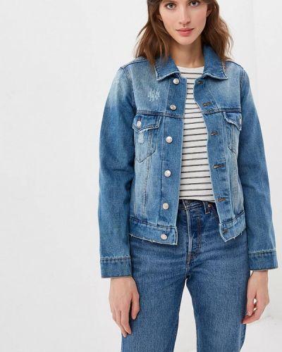Джинсовая куртка весенняя синий Sela