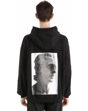 Czarna bluza z kapturem bawełniana Damir Doma