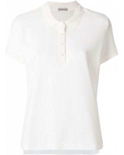 Белое поло Moncler