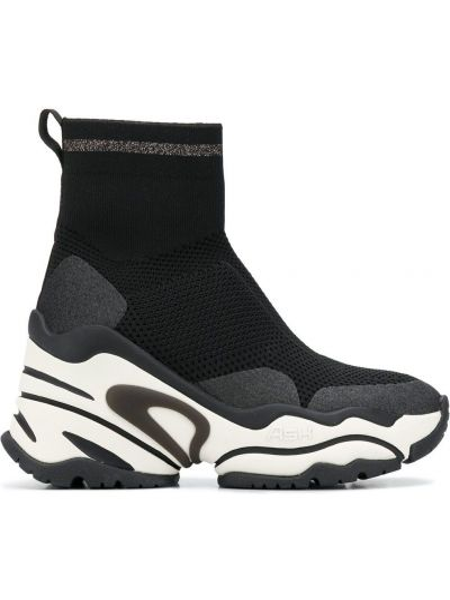 Черные носки на каблуке на платформе Ash
