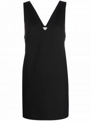 Платье с V-образным вырезом - черное Ba&sh