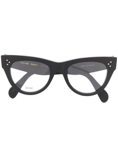 Черные очки кошачий глаз Céline Eyewear