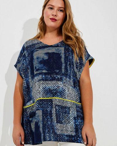 Блузка синяя весенний Fiorella Rubino
