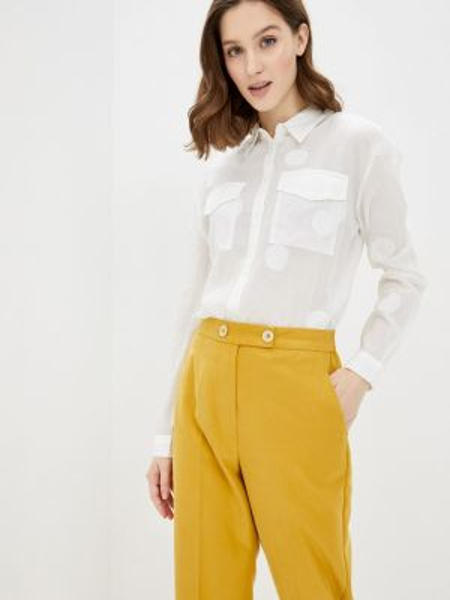 Джинсовая рубашка белая с длинным рукавом Guess Jeans