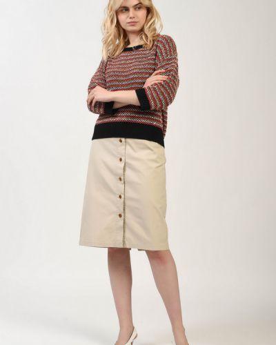 Хлопковая юбка - бежевая Gant