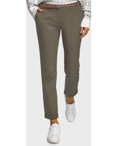 Бежевые брюки Oodji