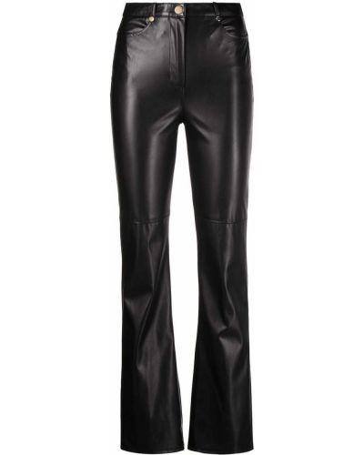 Кожаные черные брюки с карманами Patrizia Pepe