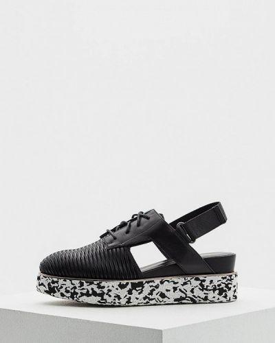 Черные кожаные туфли с открытой пяткой United Nude