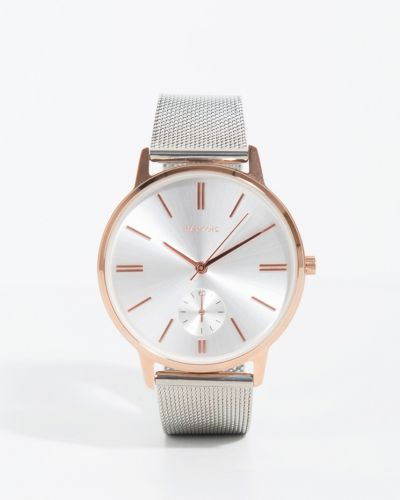 Часы с круглым циферблатом серебряный Parfois