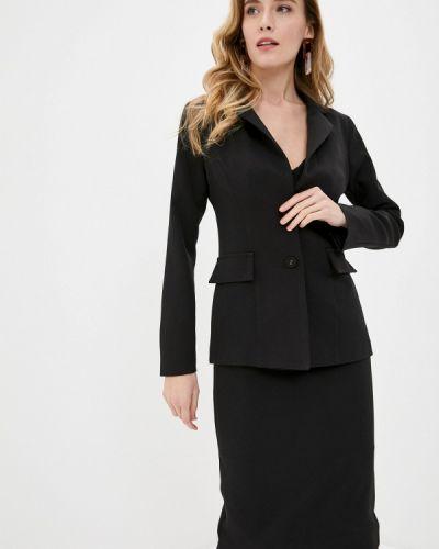 Костюмный черный юбочный костюм Elsi