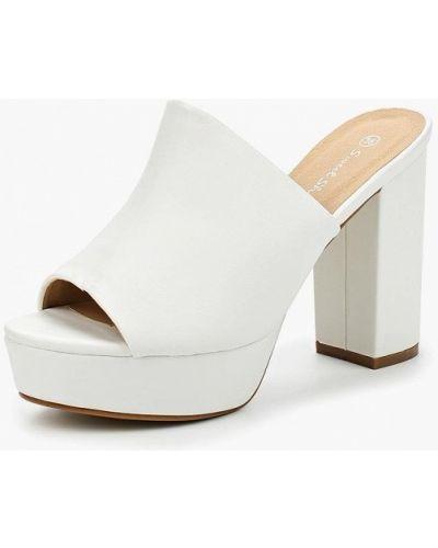 Белое сабо кожаные Sweet Shoes