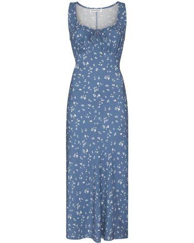 Sukienka midi w kwiaty - niebieska Reformation
