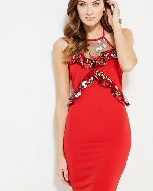 Красное платье осеннее Naanaa