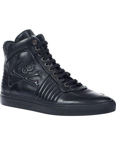 Кожаные ботинки осенние Philipp Plein