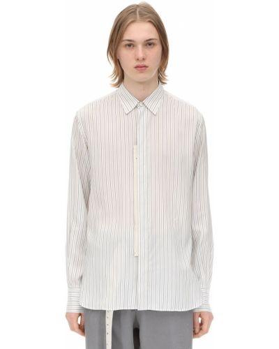 Klasyczna biała klasyczna koszula w paski Rochas