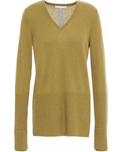 Облегченный зеленый кашемировый свитер Duffy