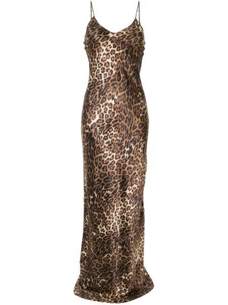 Платье макси леопардовое на бретелях Nili Lotan