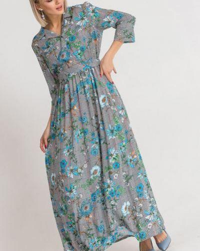Повседневное платье с воротником из штапеля Vovk