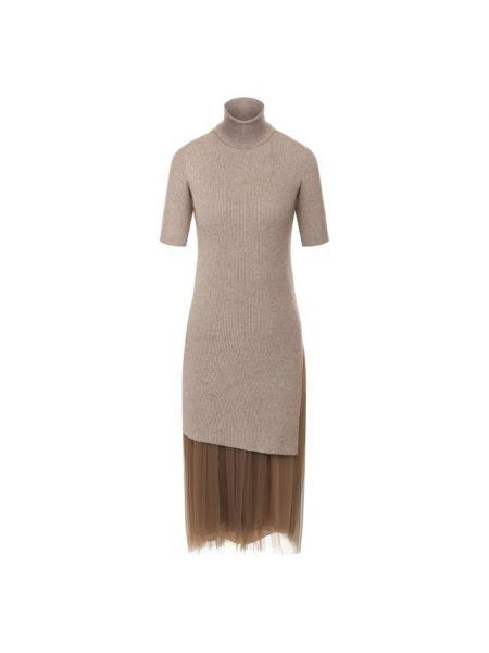 Вечернее платье платье-свитер шифоновое Brunello Cucinelli