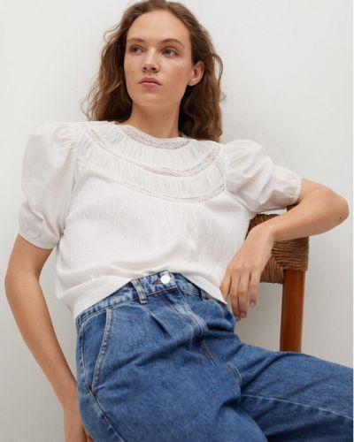 Biała bluzka Mango