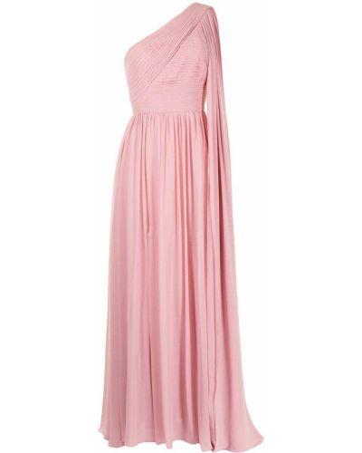 Шелковое платье - розовое Elie Saab
