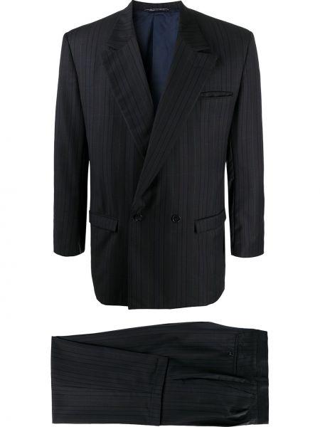 Коричневый костюмный костюм с лацканами на пуговицах Versace Pre-owned