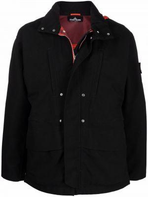 Куртка с капюшоном - черная Stone Island Shadow Project