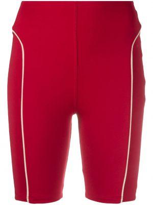 Красные с завышенной талией шорты эластичные Esteban Cortazar
