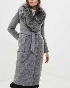 Зимнее пальто серое пальто Karolina
