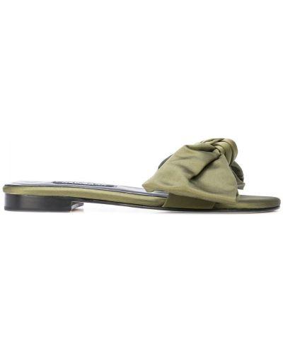 Шлепанцы на каблуке зеленый Newbark
