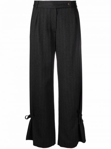 Шерстяные брюки - черные SociÉtÉ Anonyme
