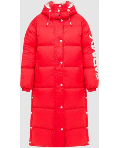 Пуховая куртка - красная Yves Salomon Army