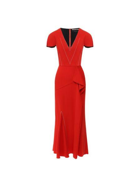 Платье миди с V-образным вырезом годе Roland Mouret
